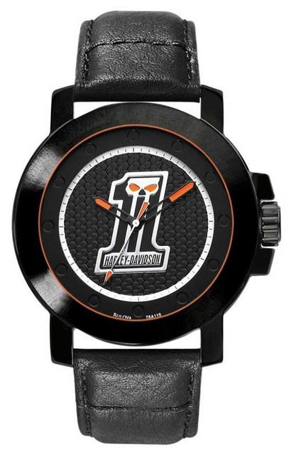 Harley-Davidson Men's Bulova #1 Skull Wrist Watch 78A110 - Wisconsin Harley-Davidson