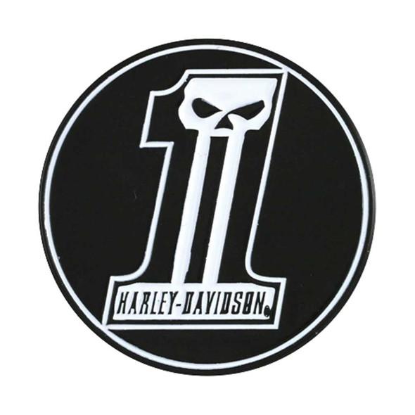 Harley-Davidson Challenge Coin, Long Tooth #1 Skull / Bar & Shield Logo 8003074 - Wisconsin Harley-Davidson