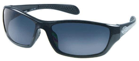 Harley-Davidson Mens Lifestyle Sunglasses Shiny Black Dark Grey Lens HDS570BLK-3 - Wisconsin Harley-Davidson