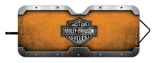 Harley-Davidson Bar & Shield Accordion Style Car Sun Shade Universal Fit P3676 - Wisconsin Harley-Davidson