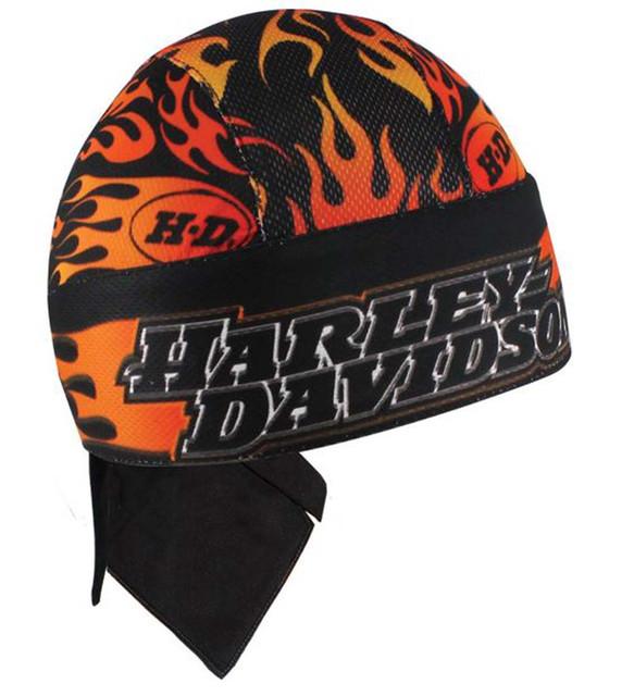 Harley-Davidson Scorch Flames Black Head Wrap HW122230 - Wisconsin Harley-Davidson