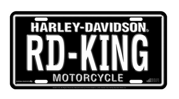 Harley-Davidson RD-KING Auto Tag Stamped Metal Licenses Plate CG1895 - Wisconsin Harley-Davidson