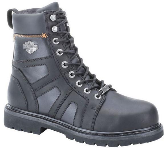 Harley-Davidson Men's Craig Steel-Toe 7-Inch Black Boots. Inside Zipper. D93177 - Wisconsin Harley-Davidson