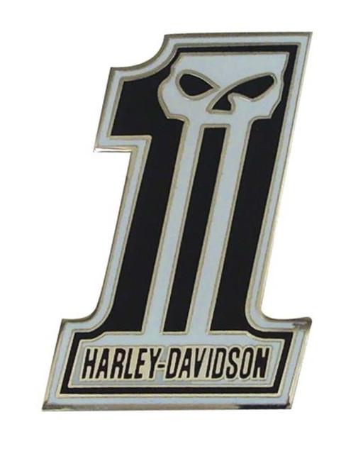 Harley-Davidson #1 Skull Black & Silver Pin P718883 - Wisconsin Harley-Davidson