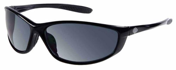 Harley-Davidson Mens Lifestyle Sunglasses Shiny Black Dark Grey Lens HDS598BLK-3 - Wisconsin Harley-Davidson