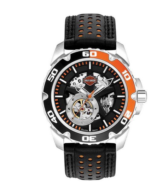 Harley-Davidson Men's Bulova Mechanical Wrist Watch 78A111 - Wisconsin Harley-Davidson