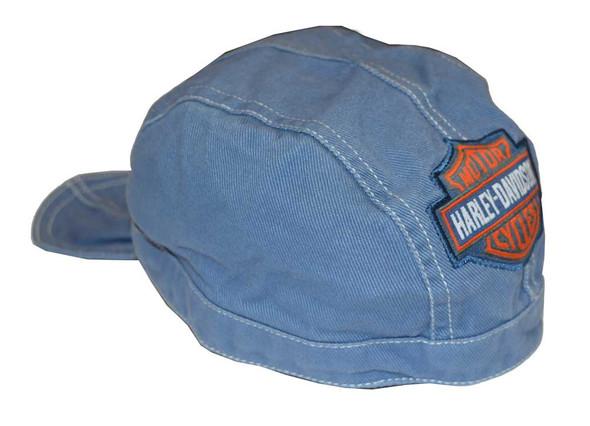 Harley-Davidson Baby Boys' Do-Rag, Bar & Shield Denim Head Wrap, Blue 1350322 - Wisconsin Harley-Davidson