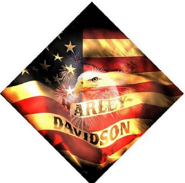 Harley-Davidson 24 X 24 Soaring Eagle American Flag Bandana BA16884 - Wisconsin Harley-Davidson