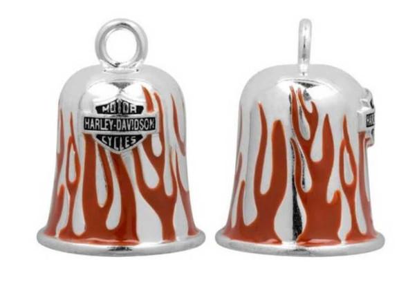 Harley-Davidson Red Flames Bar & Shield Ride Bell HRB030 - Wisconsin Harley-Davidson