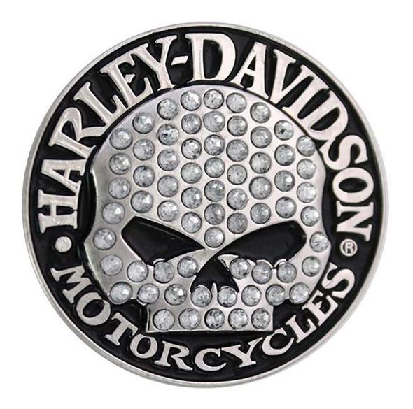 Harley-Davidson Bling Hubcap Sliver Skull Pin P1326062 - Wisconsin Harley-Davidson