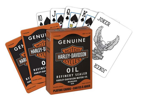 Harley-Davidson H-D Genuine Oil Can Playing Cards 1023343 - Wisconsin Harley-Davidson