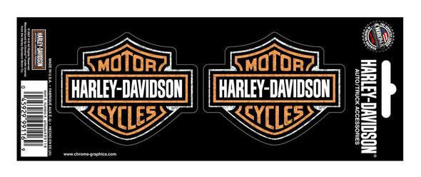 Harley-Davidson Bar & Shield 2-Piece Holographic Decals, 3 x 2.5 Inch CG99116 - Wisconsin Harley-Davidson
