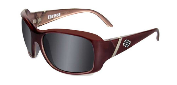 Harley-Davidson Chelsea Grey Lens w/ Liquid Plum Frame Sunglasses HDCHE01 - Wisconsin Harley-Davidson