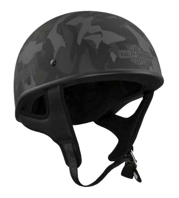 Harley-Davidson Men's Camo Low Profile Half Helmet, Motorcycle Bike. 97319-16VM - Wisconsin Harley-Davidson