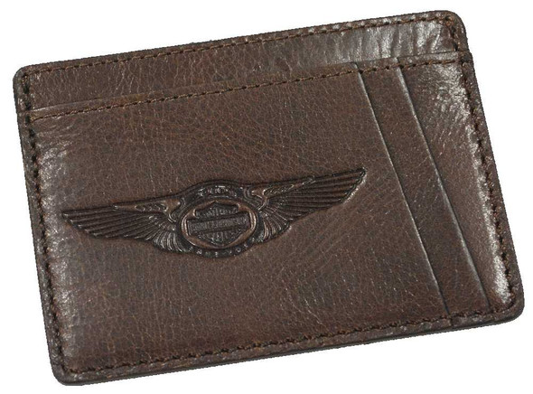 Harley-Davidson 110th Anniversary Front Pocket Wallet Leather AM1198L-Brown - Wisconsin Harley-Davidson