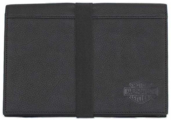 Harley-Davidson Mens Black Leather Document Wallet DW7000L-BLACK - Wisconsin Harley-Davidson