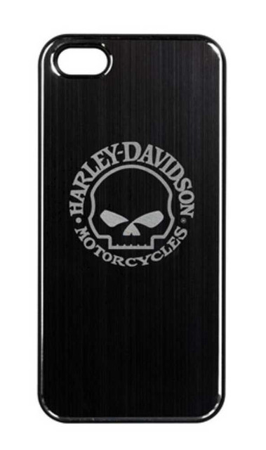 Harley-Davidson Aluminum iPhone 5/5s Shell Etched Willie G. Skull Black 07453 - Wisconsin Harley-Davidson
