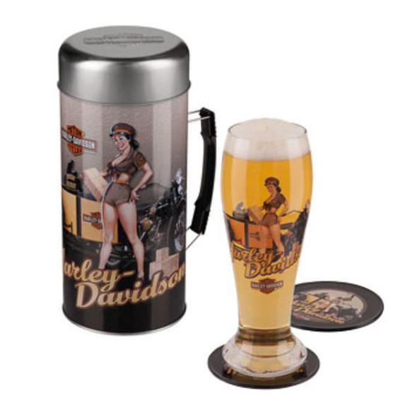 Harley-Davidson Pilsner Set, Servi-Gal Bobbie Package Deliver Gift Set HDL-18731 - Wisconsin Harley-Davidson