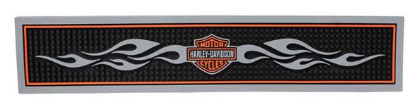 Harley-Davidson Bar & Shield Flames Beverage Mat Rubber, Black HDL-18500 - Wisconsin Harley-Davidson