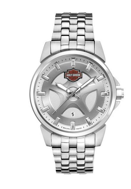 Harley-Davidson Men's Bulova Bar & Shield Wrist Watch 76B159 - Wisconsin Harley-Davidson