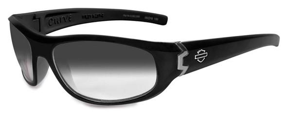 Harley-Davidson Men's Curve Light Adjust Gloss Black Frames Sunglasses HDCUR06 - Wisconsin Harley-Davidson