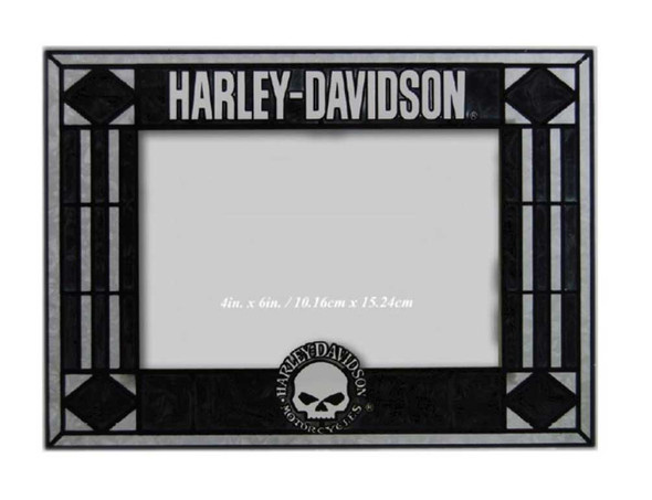 Harley-Davidson Willie G. Skull Art Glass Picture Frame, Horizontal HD-WGS-245 - Wisconsin Harley-Davidson