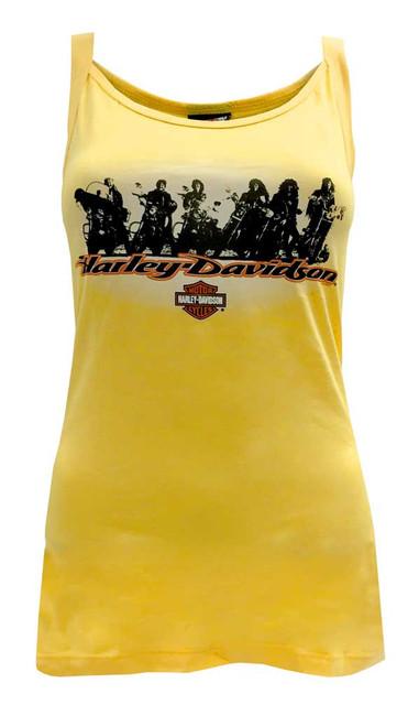 Harley-Davidson Women's Tank Top, Femme Fatale Motorcycle Crew Cami, Yellow - Wisconsin Harley-Davidson