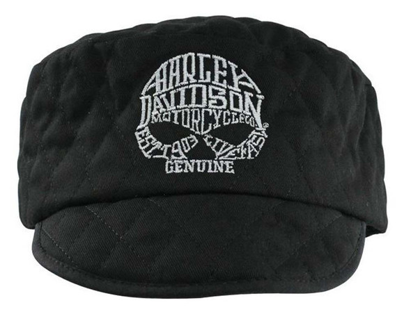 Harley-Davidson Quilted Painters Cap Loudmouth Skull, Size SM/Md WC1205302 - Wisconsin Harley-Davidson