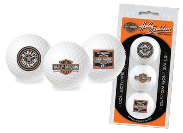 Harley-Davidson Limited Edition Classic Logos Golf Ball Tri-Packs 661 - Wisconsin Harley-Davidson