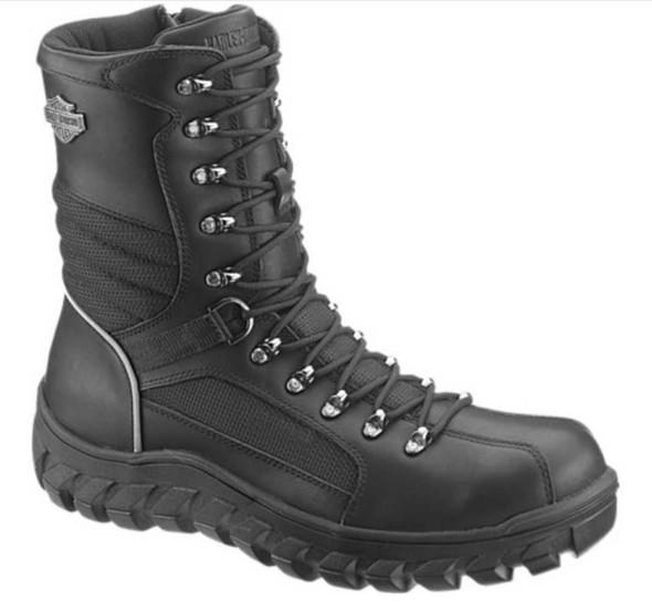Harley-Davidson Men's Judson Waterproof Black Motorcycle Boots. D96049 - Wisconsin Harley-Davidson