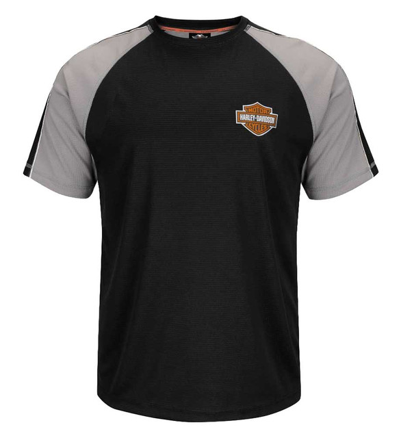 Harley-Davidson Men's Performance T-Shirt, Reflective Short Sleeve Black H41V - Wisconsin Harley-Davidson