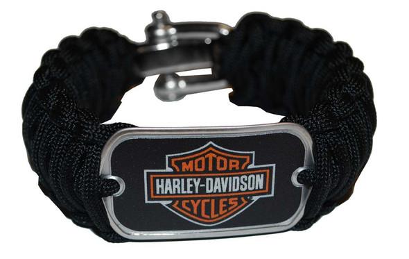 Harley-Davidson Wide Survival Bracelet Strap Steel Shackle Size 7.5'' 201106578 - Wisconsin Harley-Davidson
