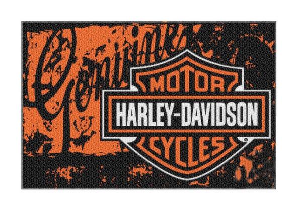 Harley-Davidson 20 x 30 Bar & Shield Distressed Genuine Tufted Rug NW269224 - Wisconsin Harley-Davidson