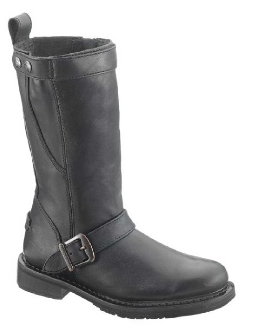 Harley-Davidson Women's Dulcie Black 10-Inch Boots, 1-Inch Heels D85414 - Wisconsin Harley-Davidson