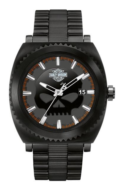 Harley-Davidson Men's Bulova Watch, Willie G. Skull Black Stainless Steel 78B135 - Wisconsin Harley-Davidson