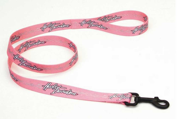 Harley-Davidson Barb Wire Vibrant Nylon Dog Leash 1'' x 4' Pink H0964-H-PBW04 - Wisconsin Harley-Davidson