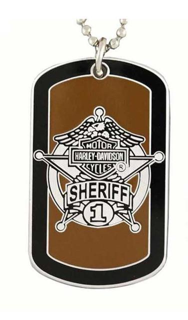 Harley-Davidson Sheriff Service Dog Tag Necklace/Key Chain 8002725 - Wisconsin Harley-Davidson