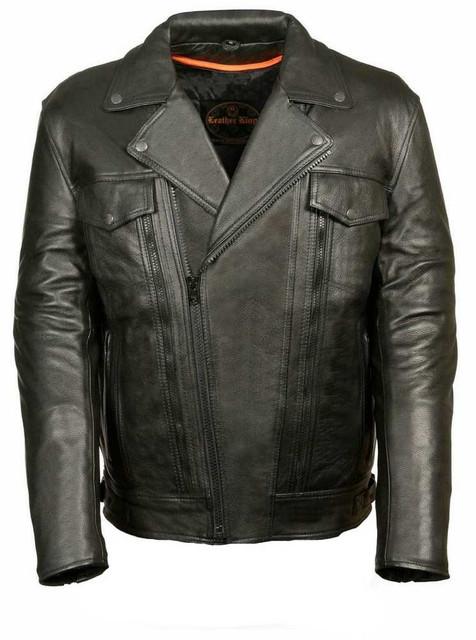 Leather King Men's Utility Pocket Motorcycle Jacket SH1018 - Wisconsin Harley-Davidson