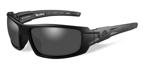 Harley-Davidson Mens Motion Sunglasses, Silver Lens/Charcoal Pearl Frame HDMTN01 - Wisconsin Harley-Davidson