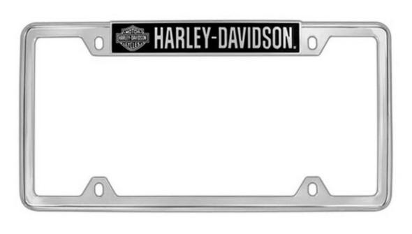 Harley-Davidson H-D Bar & Shield License Plate Frame Chrome HDLFZ18-U - Wisconsin Harley-Davidson