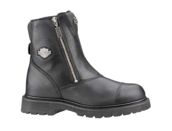 Harley-Davidson Men's Interstate 6-Inch Twin Zip Black Boots D91840 - Wisconsin Harley-Davidson