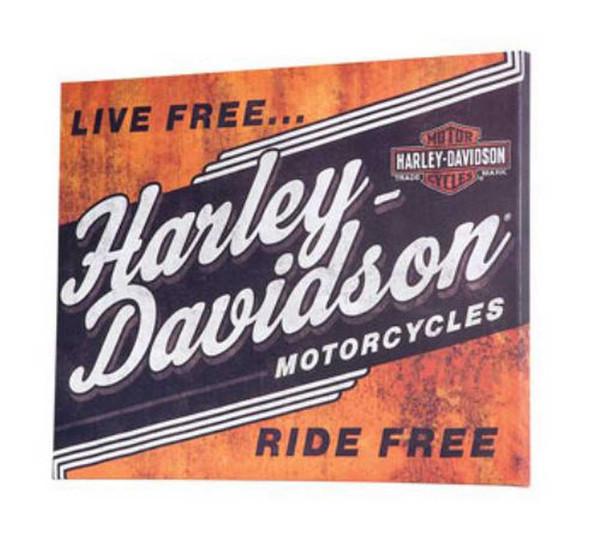 Harley-Davidson Live Free Ride Free Canvas Print HDL-15705 - Wisconsin Harley-Davidson