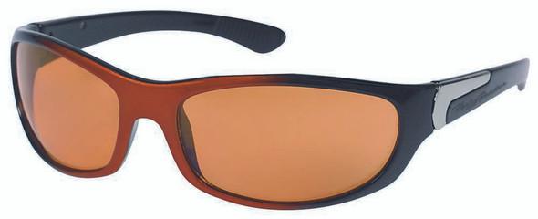 Harley-Davidson Men's Sun Kickstart Sunglasses Black/Orange Frame HDV005ORBLK-14 - Wisconsin Harley-Davidson