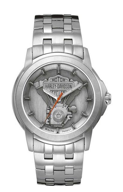 Harley-Davidson Men's Bulova V-Twin Wrist Watch 76A021 - Wisconsin Harley-Davidson