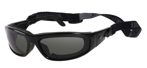 Harley-Davidson Men's Goggles, Black Frame Gray Lens Sunglasses HDS808BLK-3 - Wisconsin Harley-Davidson