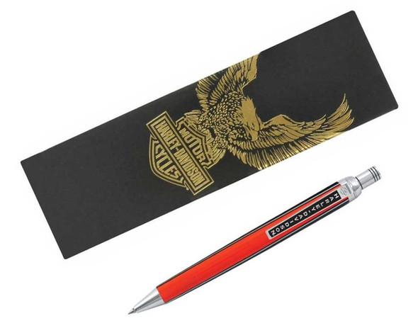 Harley-Davidson Stroker Ballpoint Push Top Writing Pen Orange & Black HDBP-1881 - Wisconsin Harley-Davidson