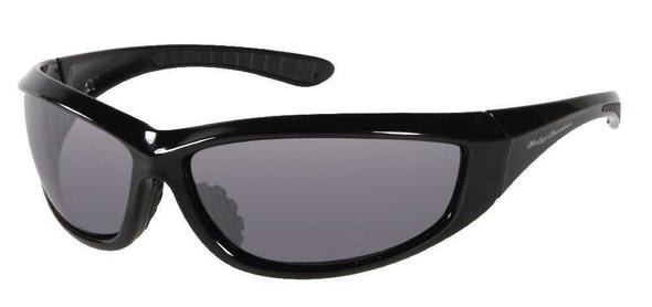 Harley-Davidson Men's Sun Lifestyle Black w/Grey Lens Sunglasses HDS609BLK-3 - Wisconsin Harley-Davidson