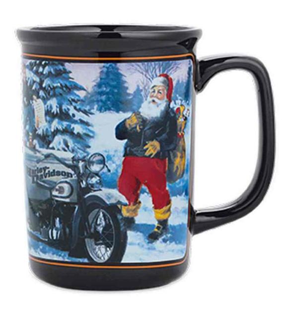 Harley-Davidson Ceramic 2015 Biker Santa Coffee Mug 10 oz., Black. 96814-16V - Wisconsin Harley-Davidson
