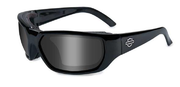 Harley-Davidson Rout Grey Lens w/ Gloss Black Frame Sunglasses HDROU01 - Wisconsin Harley-Davidson