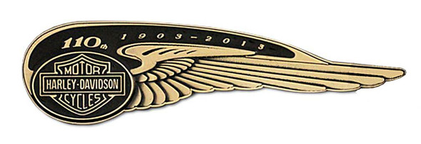 Harley-Davidson 110th Anniversary Winged Tank Badge Pin Limited Edition HDBCB226 - Wisconsin Harley-Davidson